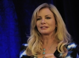 """Shannon Tweed, star of """"Gene Simmons Family Jewels,"""" speaks at the Realscreen Factual Entertainment Forum in Santa Monica."""