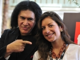 Gene Simmons and TVF International director Leila Monks at the Realscreen Factual Entertainment Forum.