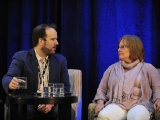 """leftfield pictures' brent montgomery with mary donahue, vp development and programming, history, during """"anatomy of a pawn star"""" at realscreen's factual entertainment forum."""