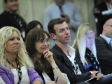 Delegates take in Nancy Dubuc's keynote conversation at Realscreen's Factual Entertainment Forum, June 2011.