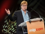 sundance channel founder robert redford at a press conference celebrating the channel's first anniversary in europe (photo: 360 media/image & co)