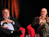 realscreen summit: living to tell the tales - rob sharenow, rasha drachkovitch, michael hoff, jonathan hewes (pictured, right), leslie greif (pictured, left), eric schotz