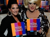 Lady Bunny and Michelle Visage at the book signing for The World According to Wonder