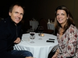 the amazing race's phil keoghan with discovery chanenl programming evp nancy daniels