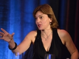 "Jane Millichip, managing director of Zodiak Rights, moderates the ""Formattable or Finished"" session at Realscreen West 2012. (Photo: Rahoul Ghose)"