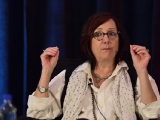"""Dorian Winship, TLC's VP of production management, discusses budgeting during """"Extreme Budget Makeover"""" at Realscreen West 2012. (Photo: Rahoul Ghose)"""
