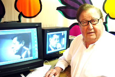 "Robert Drew editing ""A President To Remember"""