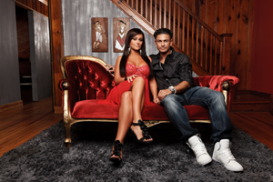 "Jersey Shore cast members Jenni ""Jwoww"" Farley and Paul ""DJ Pauly D"" Delvecchio"