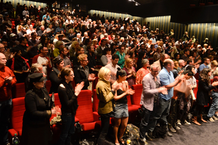 Audience at Hot Docs benefit screening of Restrepo