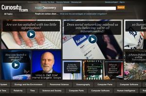 Curiosity Homepage