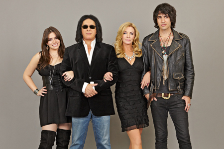 Gene Simmons and his family