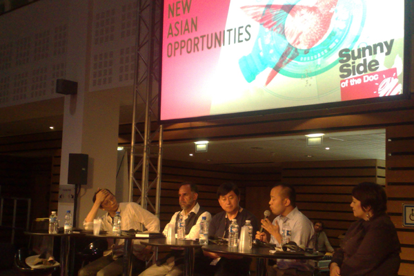 The New Asian Opportunities panel at the 22nd edition of Sunny Side of the Doc