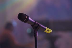 a microphone yesterday