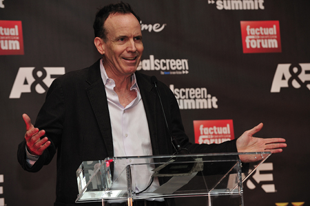 Jonathan Murray is inducted into the Factual Entertainment Awards Hall Of Fame. Photo: Rahoul Ghose