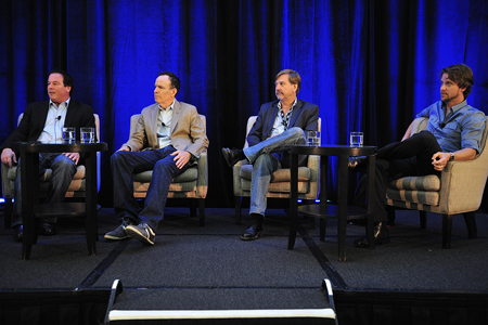 Panelists at the 'Living in The Real World' session at the 2011 Factual Entertainment Forum. Photo: Rahoul Ghose