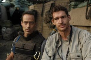 Sebastian Junger (left) and Tim Hetherington