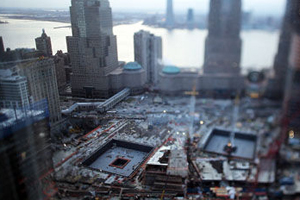 Ground Zero in New York City. Picture courtesy of Channel 4.