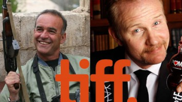 Nick Broomfield (left) and Morgan Spurlock (right)