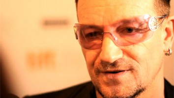 Bono from U2 on the red carpet at TIFF 2011. Picture courtesy of Crucial Pictures