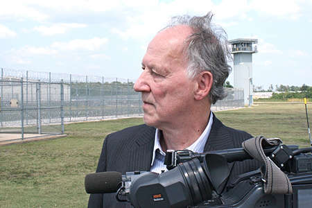 """Werner Herzog filming """"Into The Abyss"""""""