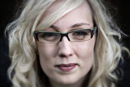 Headshots of Charlotte Cook, in London, 20 Sept 2011. (John D McHugh)