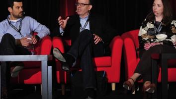 Dimitri Doganis, Jonathan Murray and Delores Gavin at the 2012 Realscreen Summit. Photo: Rahoul Ghose