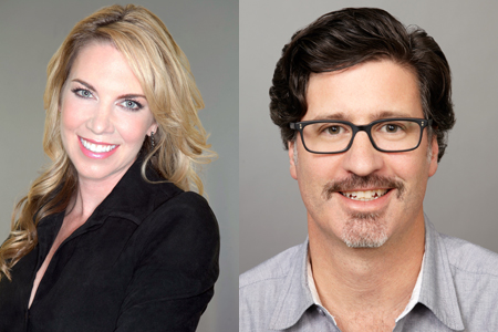 Sarah Whalen (left) and Jeff Conroy (right)