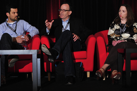 Dimitri Doganis, Jonathan Murray and Delores Gavin at the 2012 Realscreen Summit. Photo: Rahoul Ghose