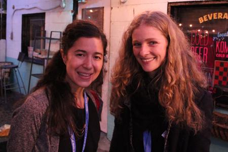 Ashley Sabin (left) and Rachel Blais