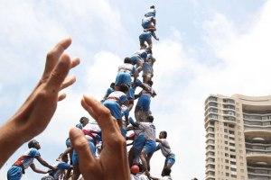 human tower