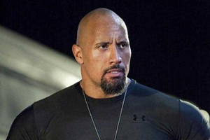 "Dwayne 'The Rock' Johnson, in a publicity still from the film ""Fast Five"""
