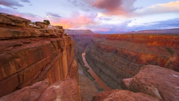 Sunset Over Colorado River and Grand Canyon