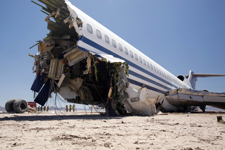 A Boeing 727 crashed in the Mexico desert for a documentary