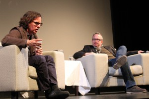 Davis Guggenheim (left) and Ted Hope in conversation at Hot Docs 2012