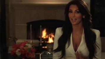 Kim Kardashian accepting her Realscreen Factual Entertainment Award
