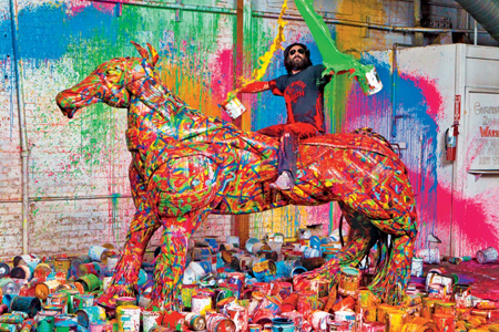 """artist 'mr brainwash' in the series """"a day in the life"""""""