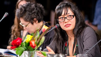 Commissioners Tomoko Okutsu from NHK (left) and Claudia Rodriguez Valencia from RTVC (right) at the 2012 Hot Docs Forum. Photo: Joseph Michael