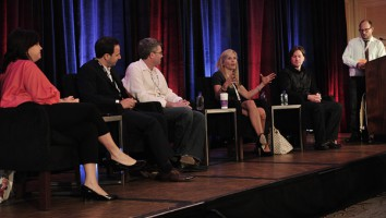 The 'Hooking Up' panel at Realscreen West 2012. Photo: Rahoul Ghose