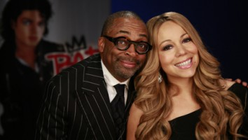 """Bad 25"" director Spike Lee (left) with singer Mariah Carey"