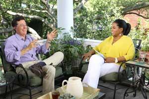 Oprah Winfrey and Stephen Colbert