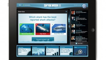 Shark Week 25th anniversary iPad app