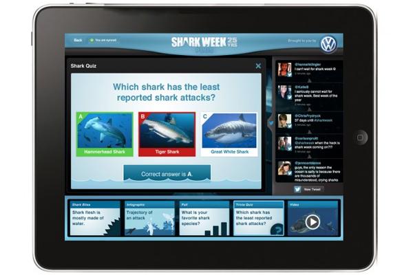 Shark Week 25th anniversary iPad app
