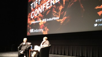 Sheila Nevins and John Anderson in conversation at TIFF's 2012 Doc Conference. Photo: Adam Benzine