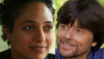 Shola Lynch (left) and Ken Burns