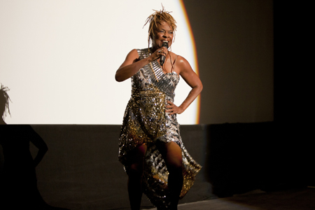 "thelma houston performing at tiff premiere of ""the secret disco revolution"". photo: david spowart"