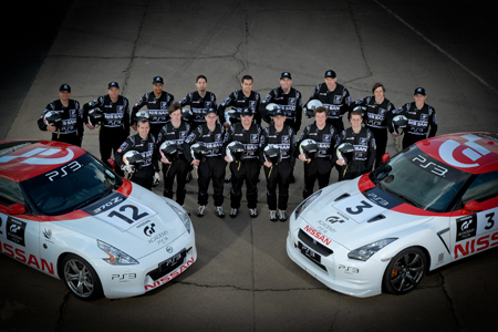 "Racers in Spike's ""GT Academy"""