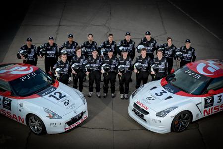 "Racers in Spike's ""GT Academy"""