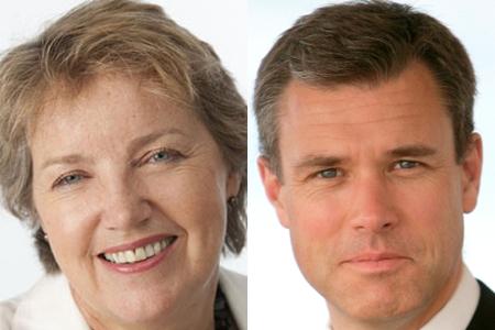 Caroline Thomson (left) and Ed Richards