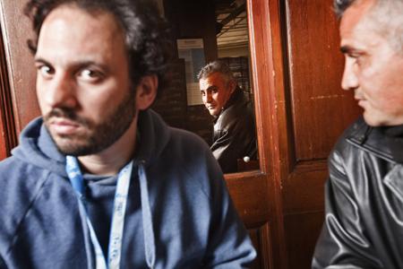 Guy Davidi (left) and Emad Burnat (right)