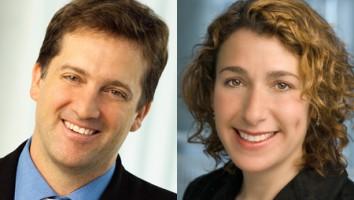 Kevin Bennett (left) and Jane Latman